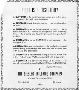 The Customer is Always Right Poster- F.M. Light and Sons in Steamboat Springs, CO - Western Wear and Cowboy Clothing