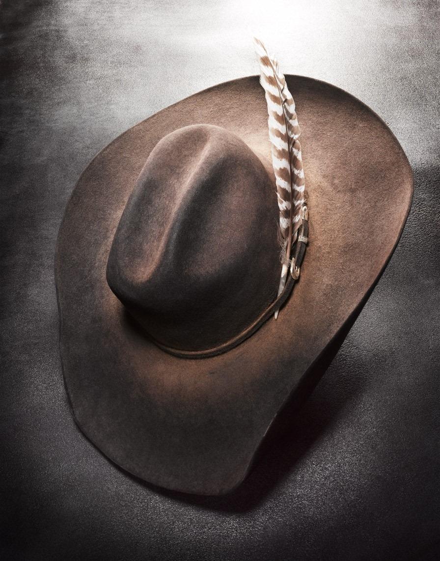 felt or straw cowboy hat
