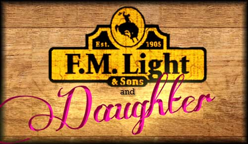 """F.M. Light and Sons Temporary Logo - """"F.M. Light and Sons (and Daughter)"""" because of new ownership - western wear in Steamboat Springs, CO for over 100 years"""