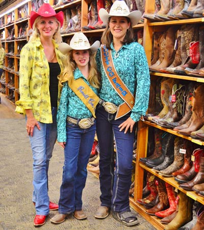 Rodeo Royalty in F.M. LIght and Sons for Rodeo Kickoff Party